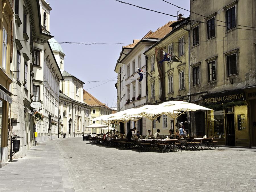 Terrasse in Ljubljana