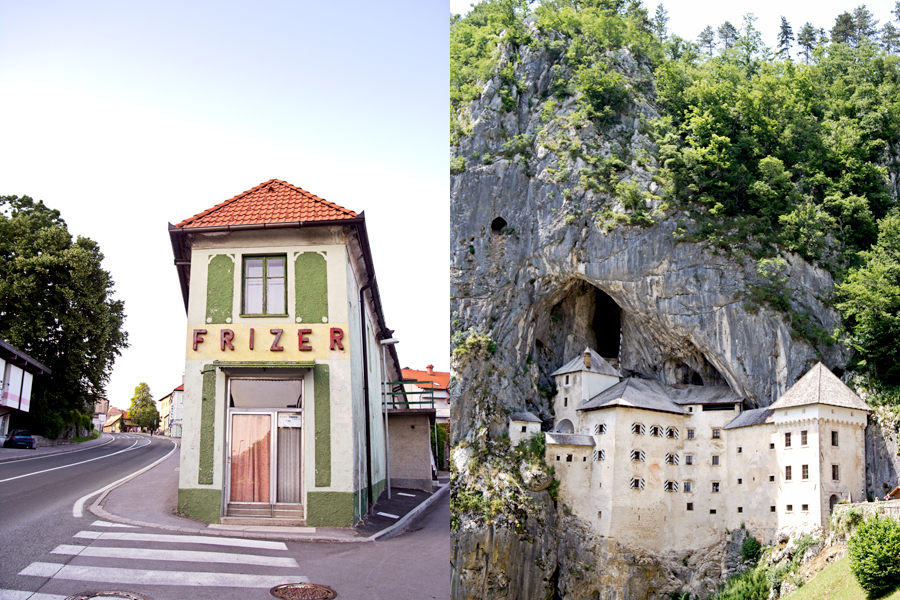 Postojna building and Predjama Castle